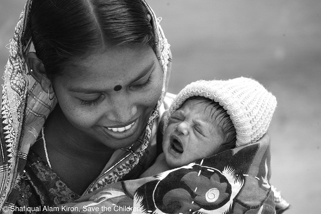 Mother and baby in Bangladesh.