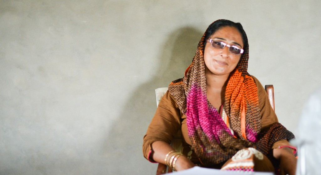 Lateefan Chandio, a midwife at her health clinic in Pakistan