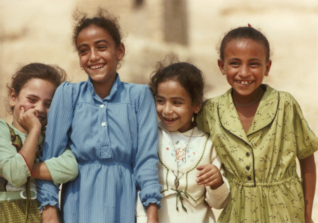 Four young girls in Egypt