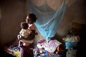 Mother of four at home near Maputo, Mozambique
