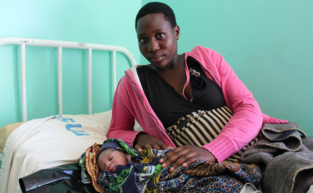 Mother & newborn at Kaigara Health Center, Tanzania