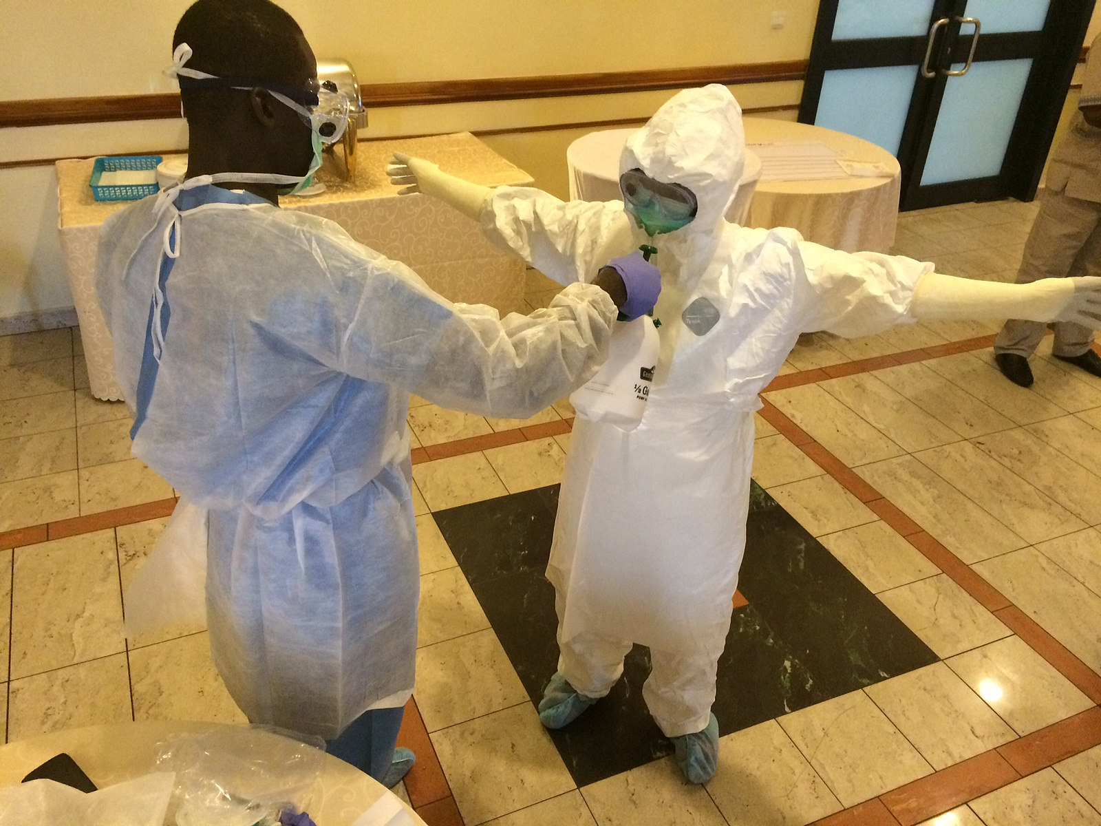 Ebola prepardness training in Ghana