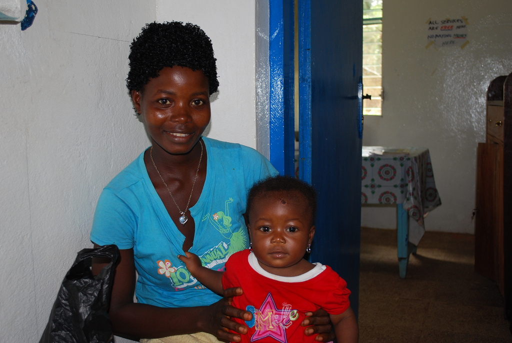 Mother and baby in Liberia