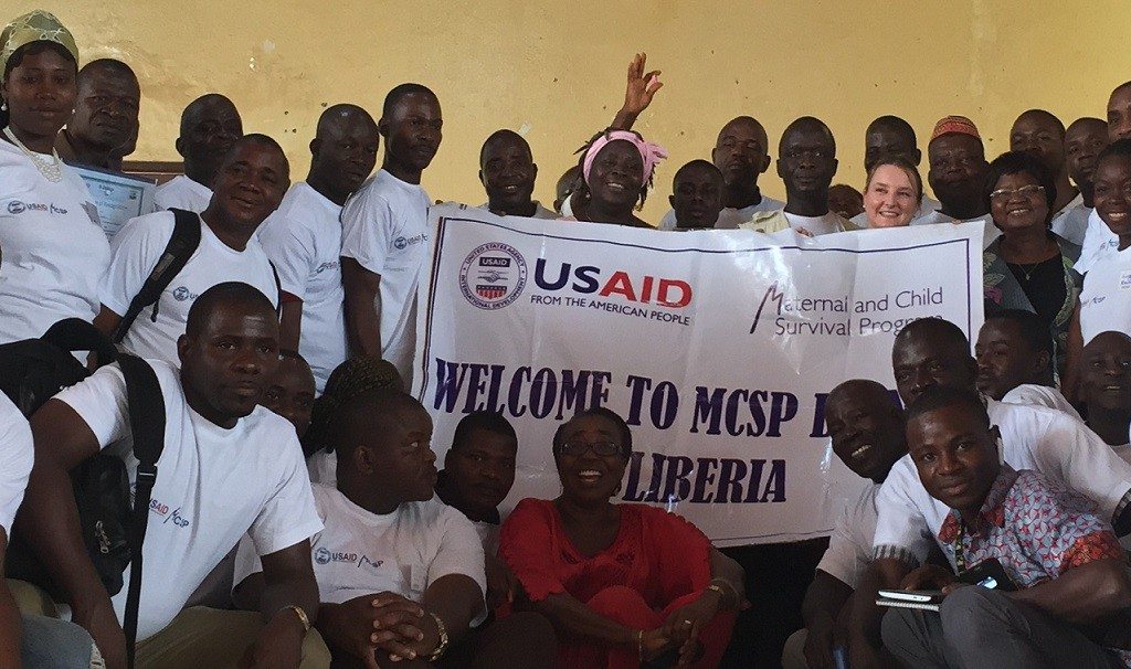 Attendees at MCSP's launch in Nimba County