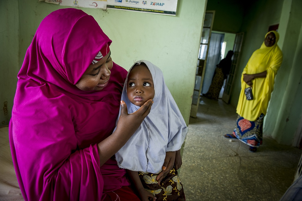 Mother and daughter in Nigeria