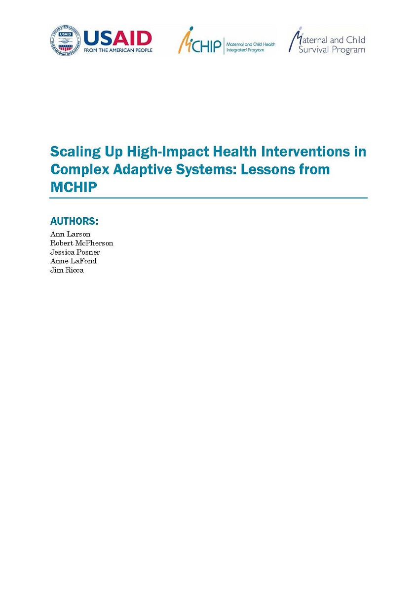 Scaling Up High-Impact Health Interventions in Complex ...