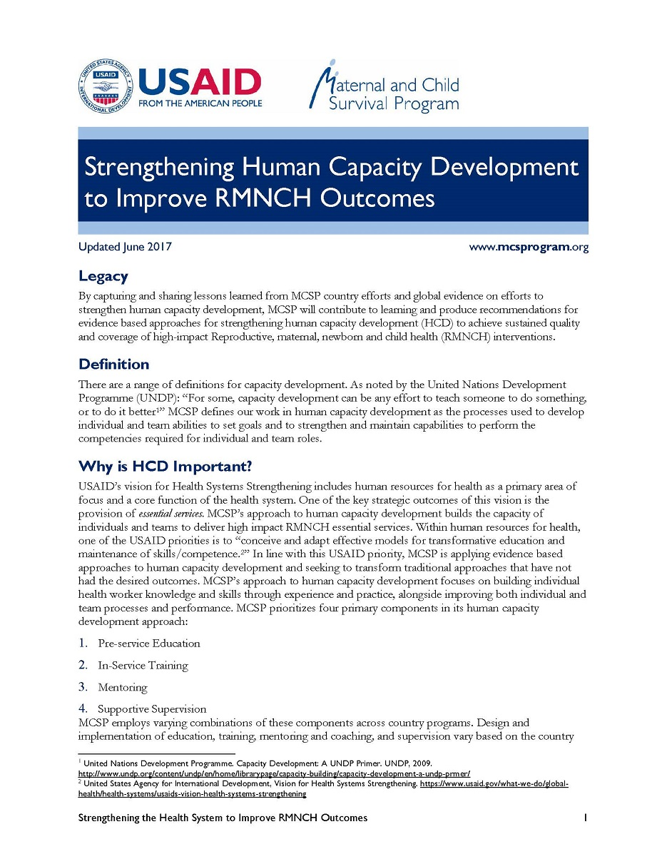 human capacity development summary Bank group capacity development strategy the chief economist office - january 2010 cd : capacity development chrm : human resource management csp : country strategy paper executive summary.