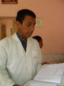 Dr. Rakotoarison at Andoharanofotsy Health Center.