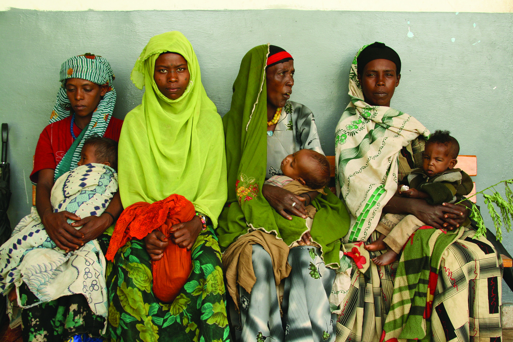 Women and children in Ethiopia.