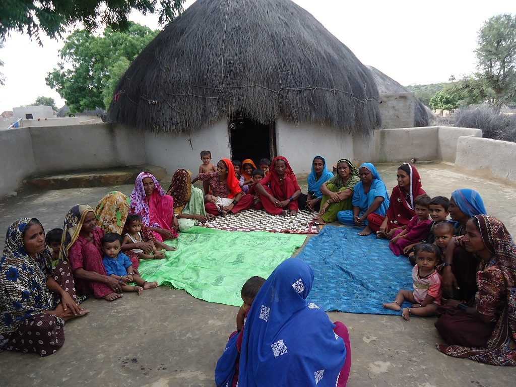 Mothers meet in Sindh Province, Pakistan.