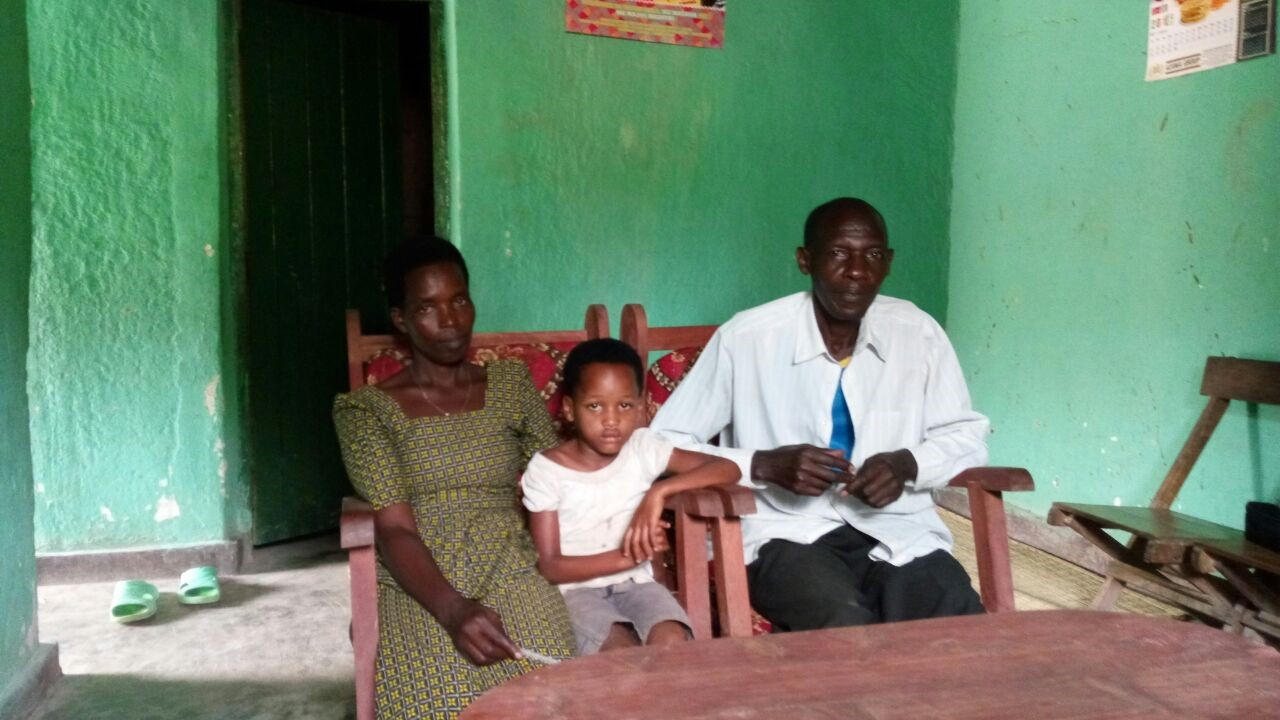 Monique, Antoinette and her father, Gafirigi.