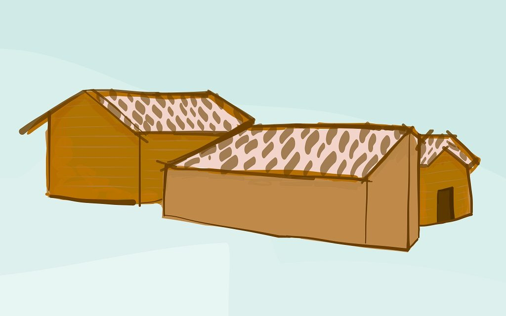 Artist's rendering of houses in the Kamonyi District.
