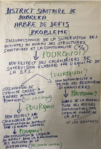 Completed problem tree for the Dubreka district team in Guinea