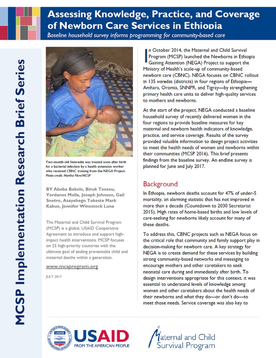 Resource search results maternal child survival program for Household survey questionnaire design