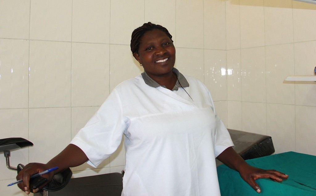 Nurse and mentee Nyirajyambere Julienne at Bisate Health Center, where she works.