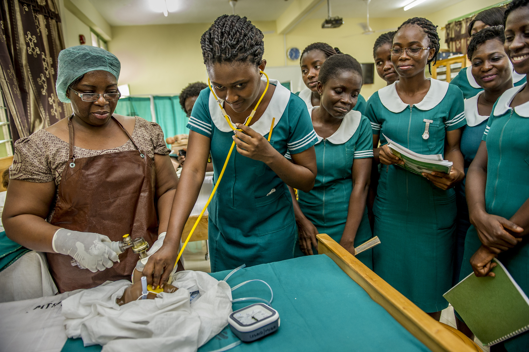Students at Hohoe Midwifery Training School in Ghana.