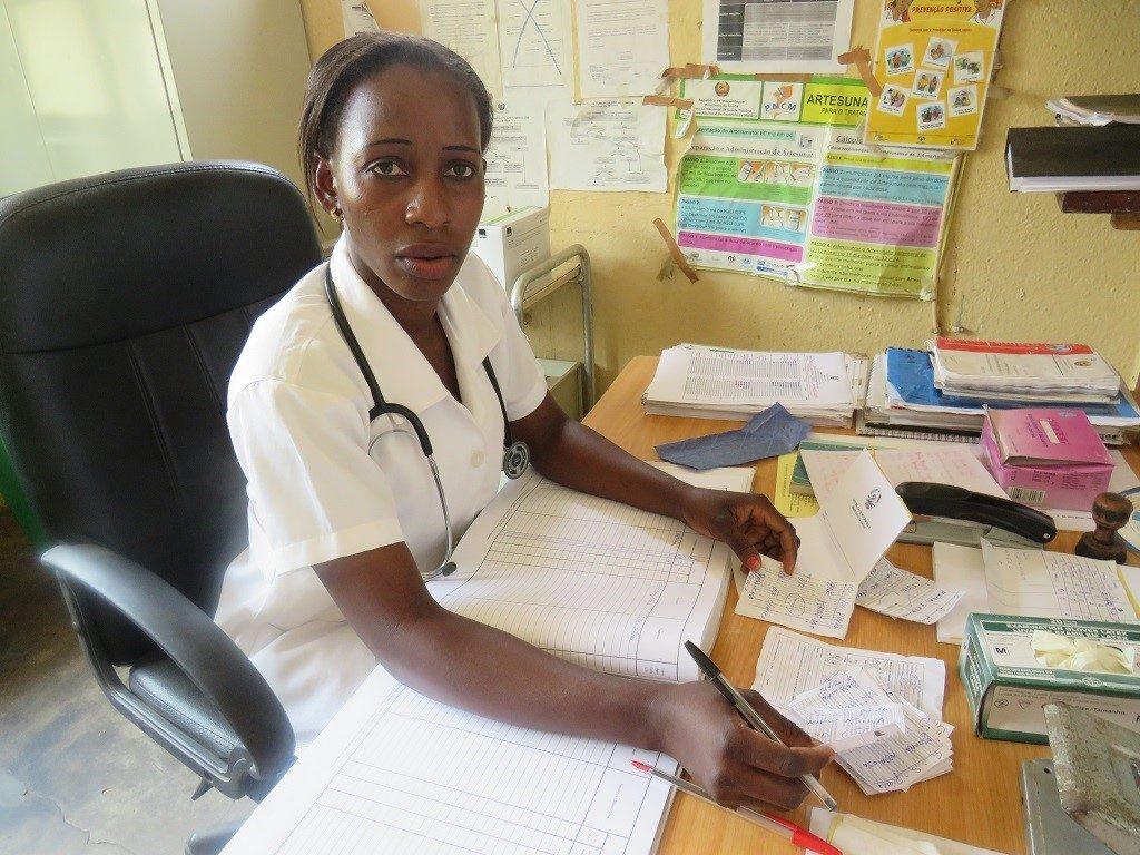 Nurse Zelinha João in her office