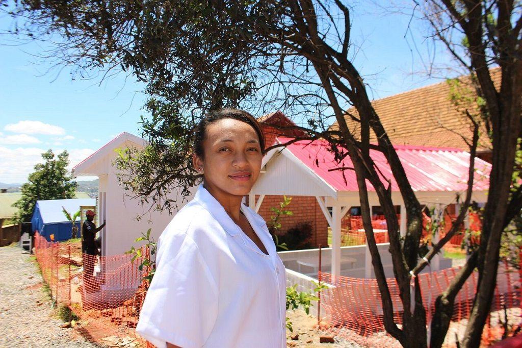 Dr. Fanja at the plague hospital in Antananarivo
