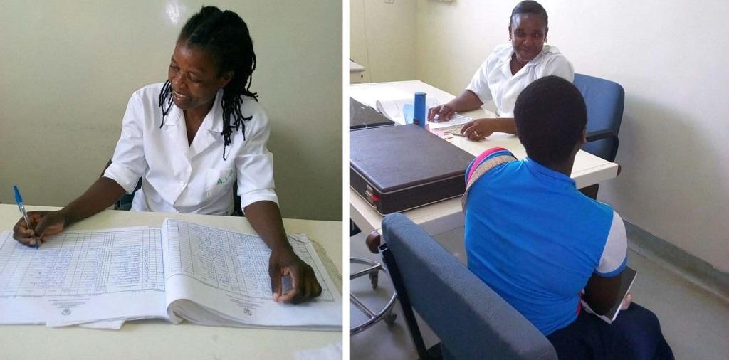 Dr. Cristina Santana and Nurse Deogrecia Chuquela at Muxungué Rural Hospital.