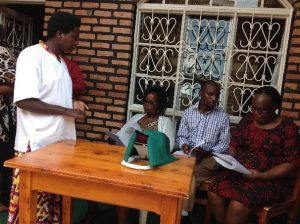 Mentoring health care providers on PPIUD using an anatomic model in Ngoma district.