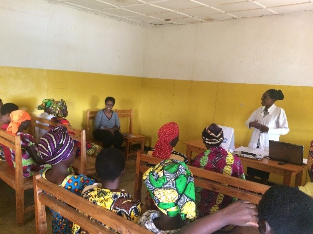 Group counseling during the postpartum period in Nyaruguru district.