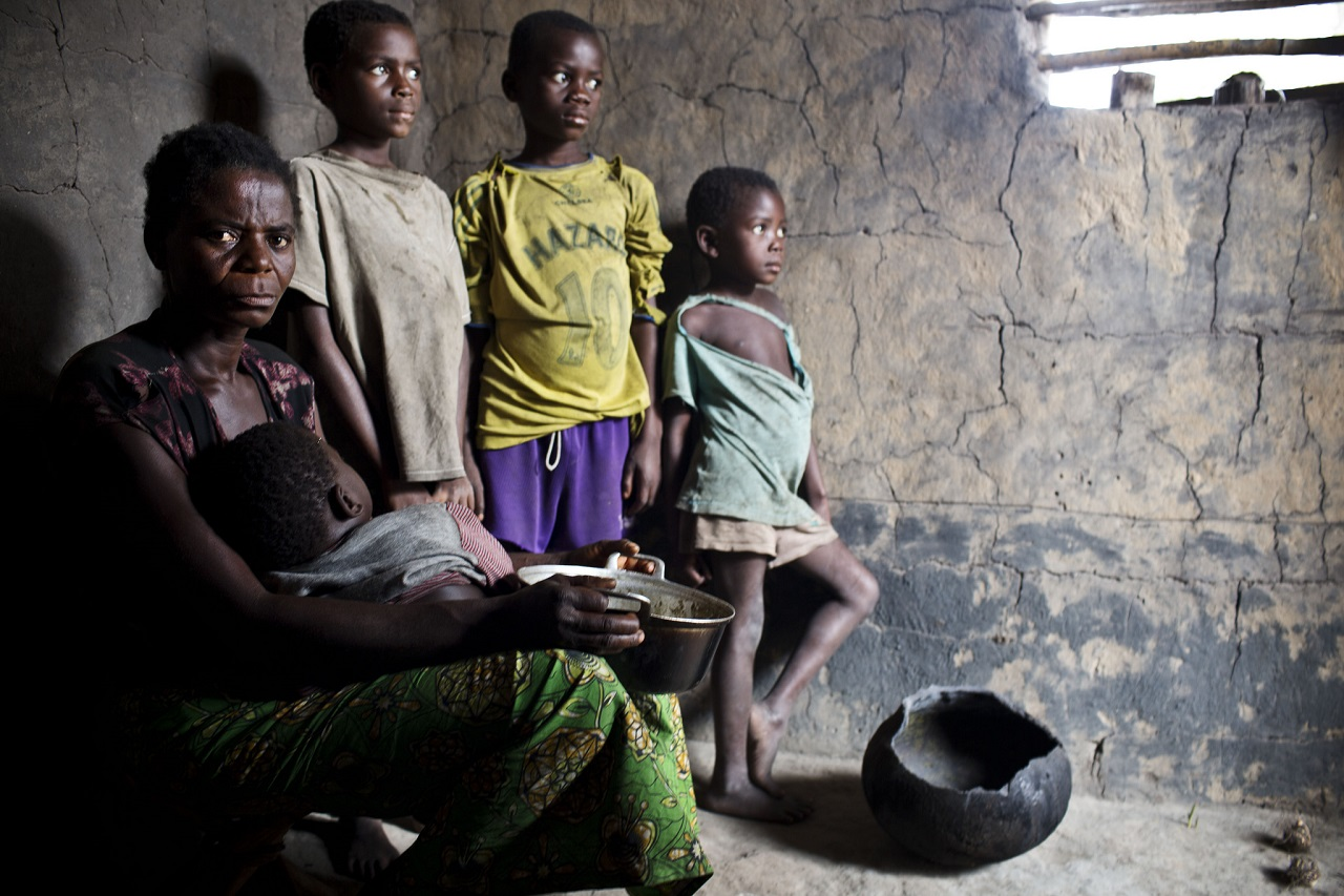 Mother of ten in their home in the village of Yatutu Isangi, Democratic Republic of Congo