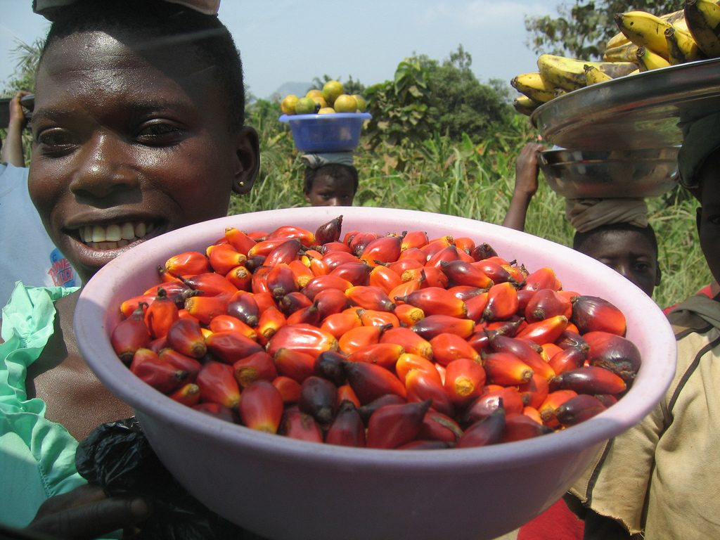 Woman selling food in Ghana
