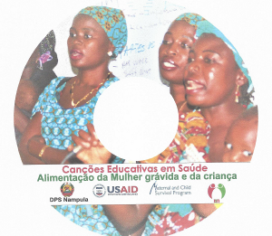 cover of the compact disc of health education songs and talk