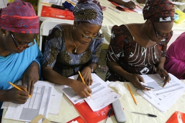 Staff in Kogi State learn to use the record-keeping tools
