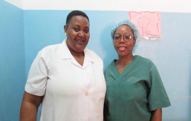 MCSP-trained nurses Trindade and Jonas.