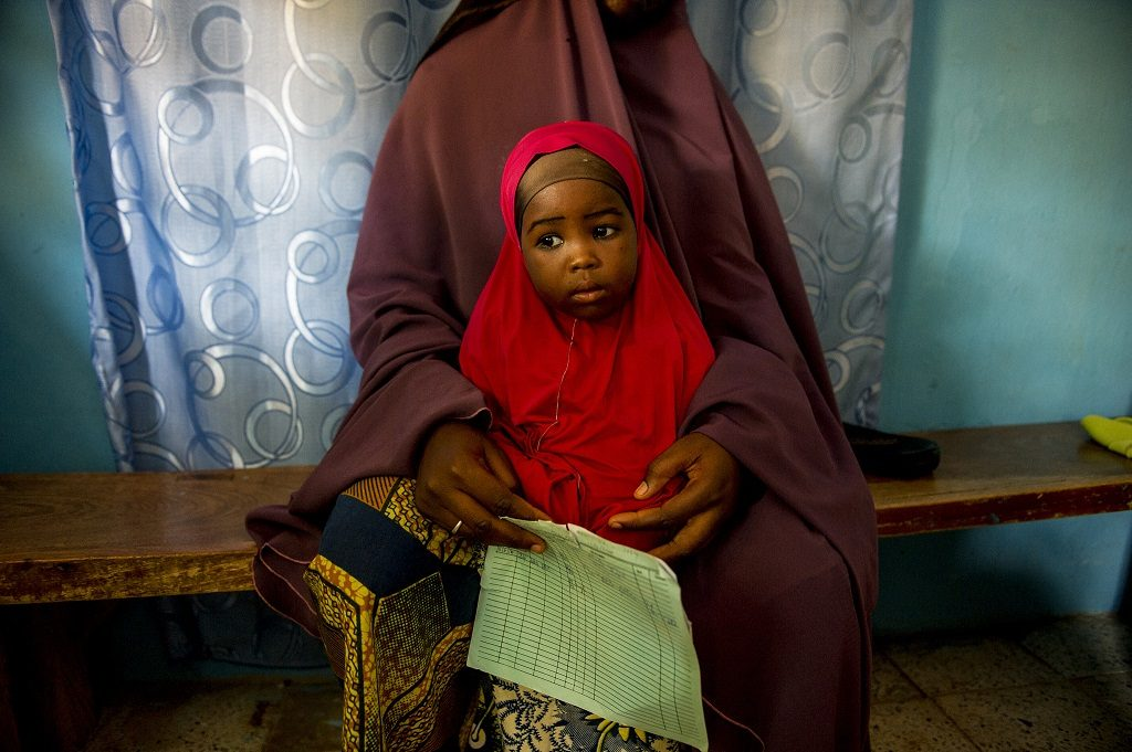 Little girl and mother in Nigeria