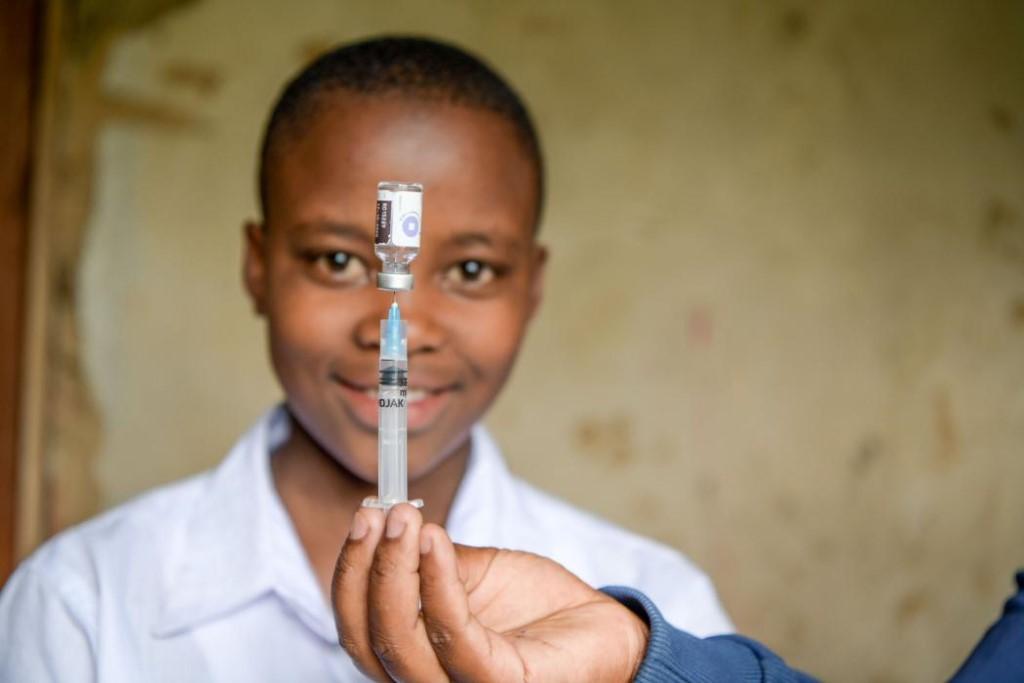 A syringe with medicine