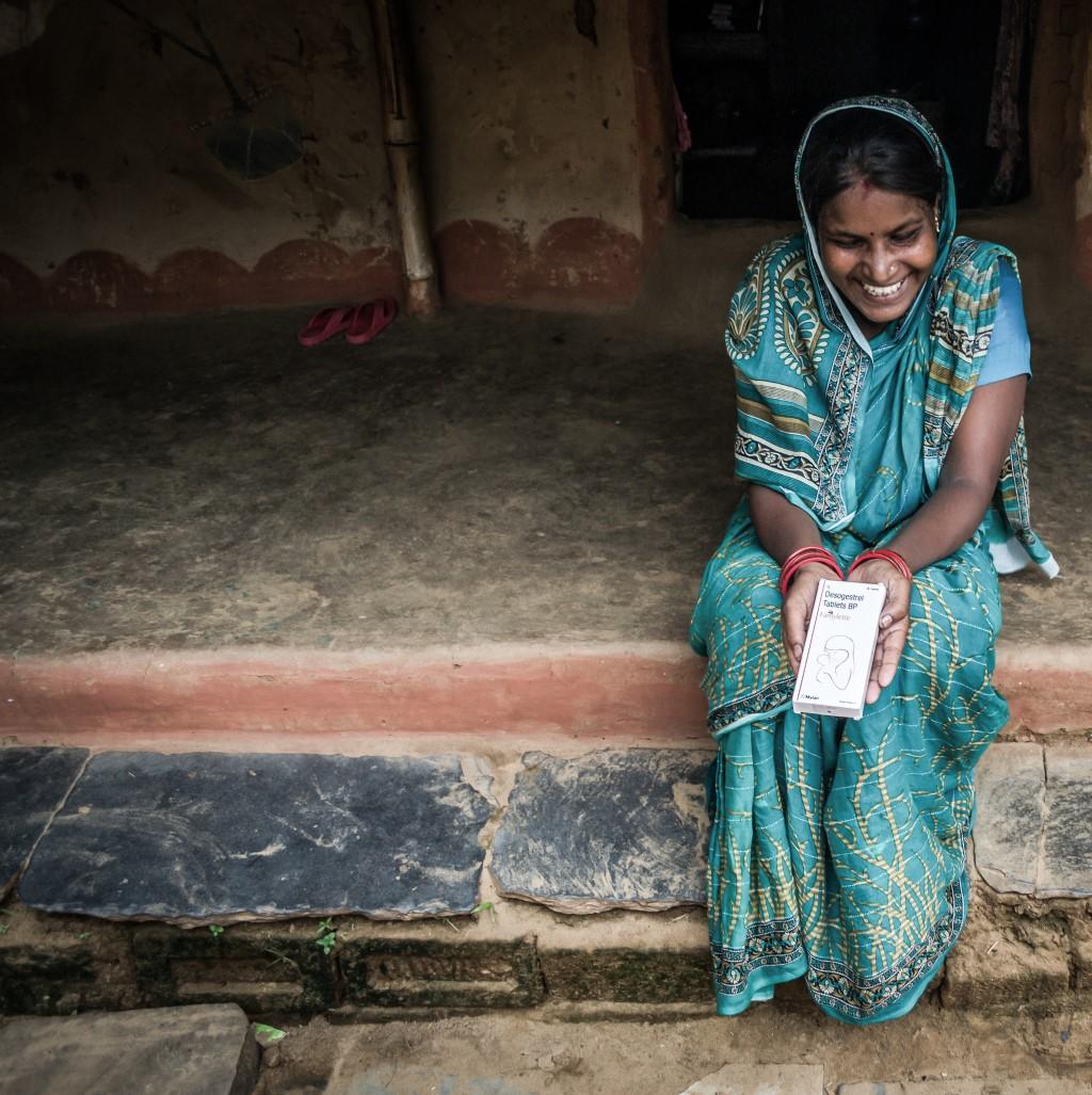 Jyoti Rani with the new birth control she has chosen
