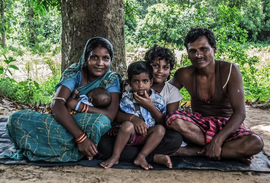 Jyoti Rani and Pratap Patra with their children.